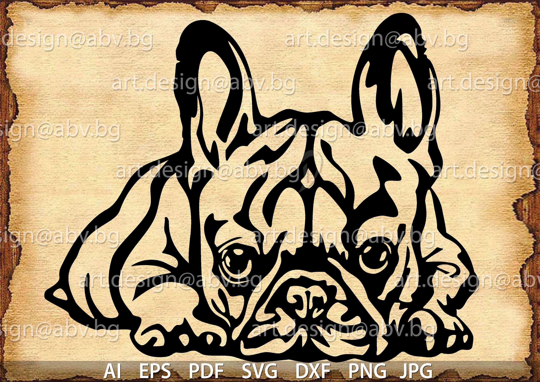 Vector French Bulldog Svg Ai Png Pdf Eps Dxf Jpg Etsy Animal Stencil Art French Bulldog Art Bulldog