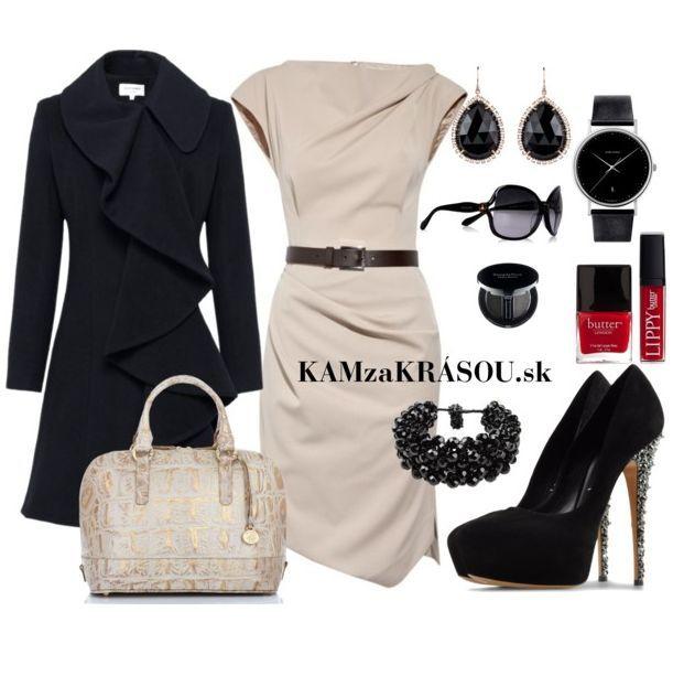Elegantná čierno-biela klasika #kamzakrasou #sexi #love #jeans #clothes #coat #shoes #fashion #style #outfit #heels #bags #treasure #blouses #dress