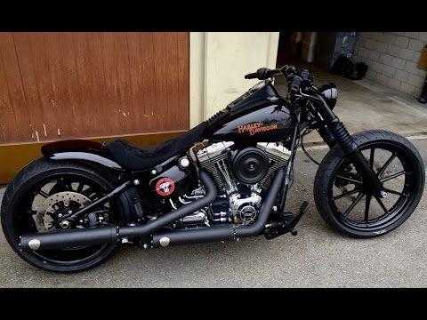 aa30eab2201b4 Harley Davidson FXSB Breakout 3. Winter Customizing is Finished - YouTube