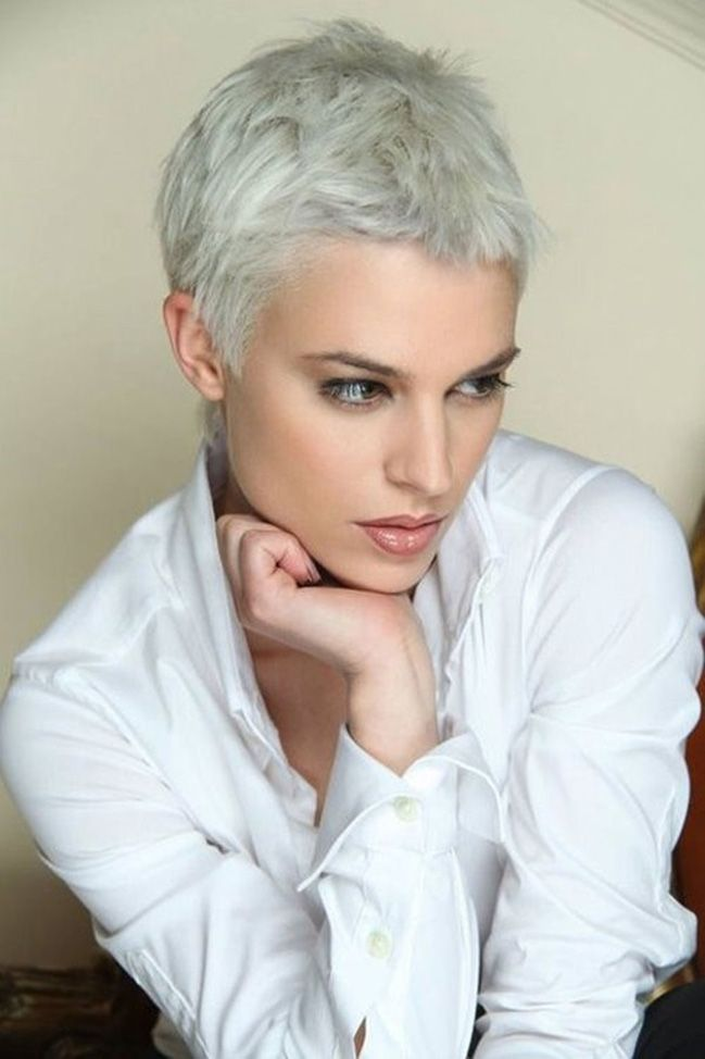Kurzhaarfrisuren Frauen Graue Haare Ideen Fashion Pinterest