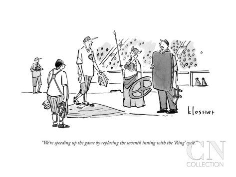 An Umpire At A Baseball Game Presents The Viking By John Klossner New Yorker Cartoons Cartoon Posters Game Presents