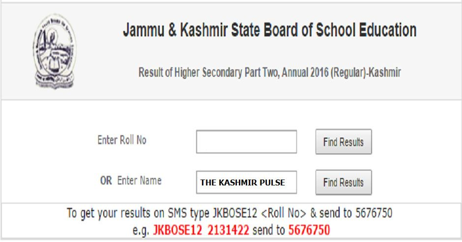 Jkbose Notice For FailReAppear Candidates In Th Class Exam