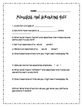 Printables Mixtures And Solutions Worksheets 1000 images about foss science mixtures solutions 3rd edition on pinterest activities student and halloween
