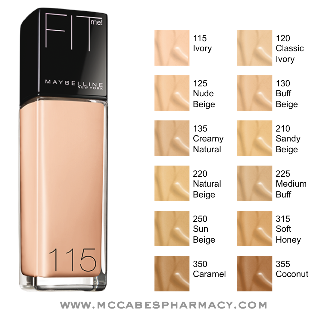Maybelline Fit Me I Use 120 And Its A Little Too Light In The Concealer Medium Summer But Fall Winter Perfect