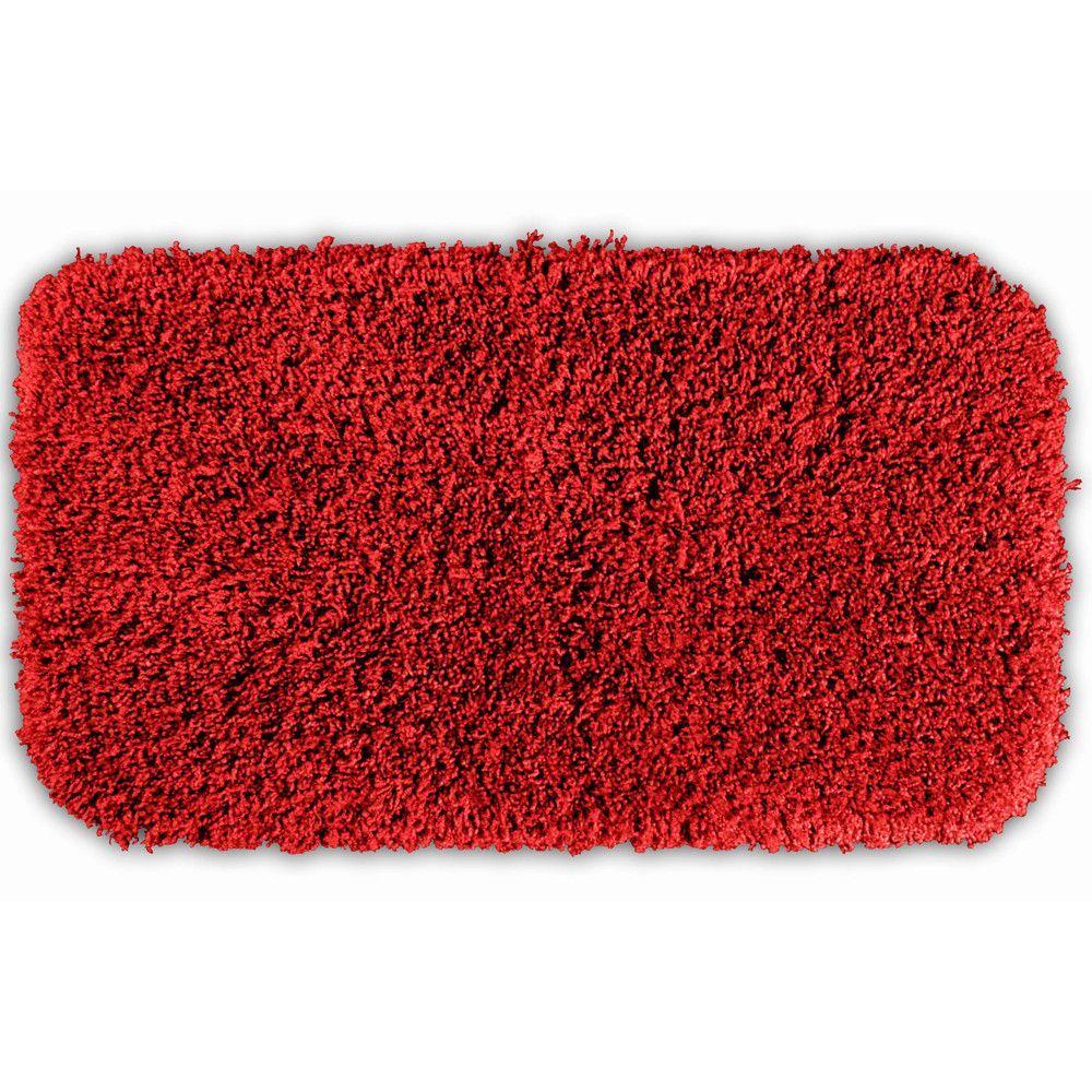 Serenity Washable Deep Red Bath Rug 2 X 3 4 Bath Runner Rugs Bath Rug Garland Rug