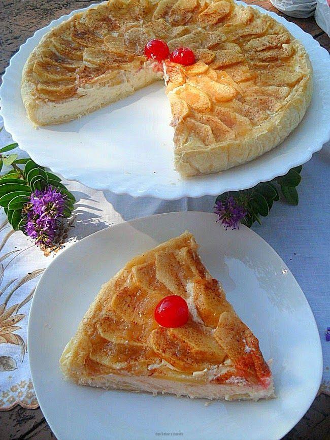 """Las manzanas que he utilizado para preparar esta tarta se llaman """"sangre de toro"""" , mi padre tiene un árbol enorme en el huerto y cada año ..."""
