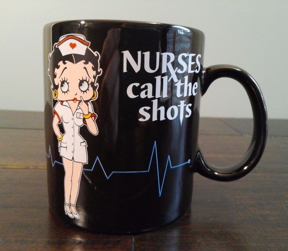 4b70c05e5b3398 Betty Boop Nurse Ceramic Coffee Tea Cup Mug Black Sexy Shot Heart  Collectable