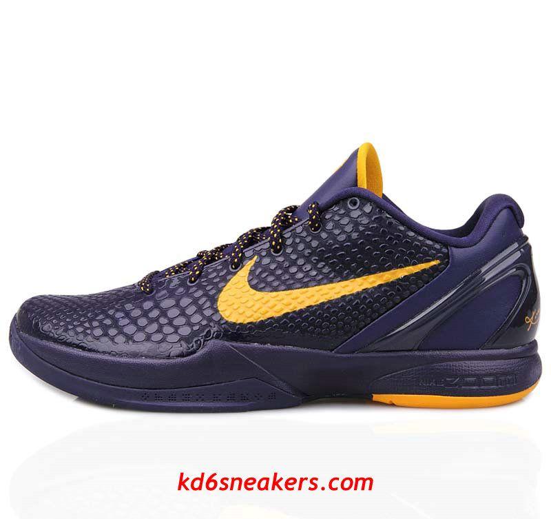 on sale fc5d8 f6cd1 Nike Kobe VI 6 Purple Yellow Blue Basketball Shoes  Cheap  purple  products  cheap nike shoes