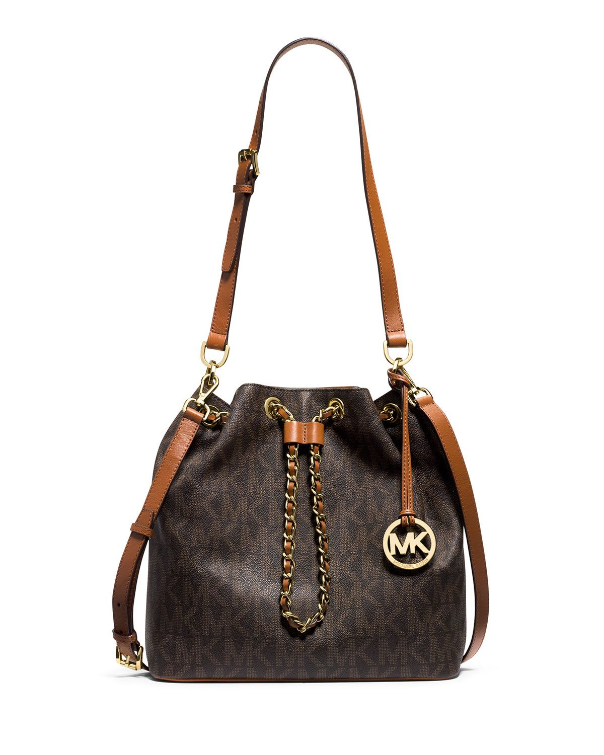 MICHAEL Michael Kors Signature Large Jet Set Messenger Bag #Dillards |  wardrobe | Pinterest | Michael kors, Jet set and Dillards