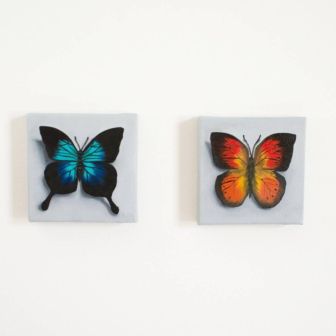 Cute Mini Butterfly Paintings