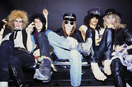 Guns N' Roses, 1985 (feat Slashs pet snake)