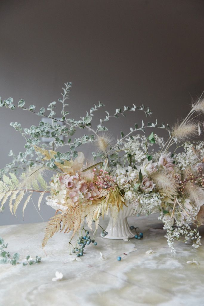 A Muted Fall Arrangement by Sarah Winward - Rip & Tan