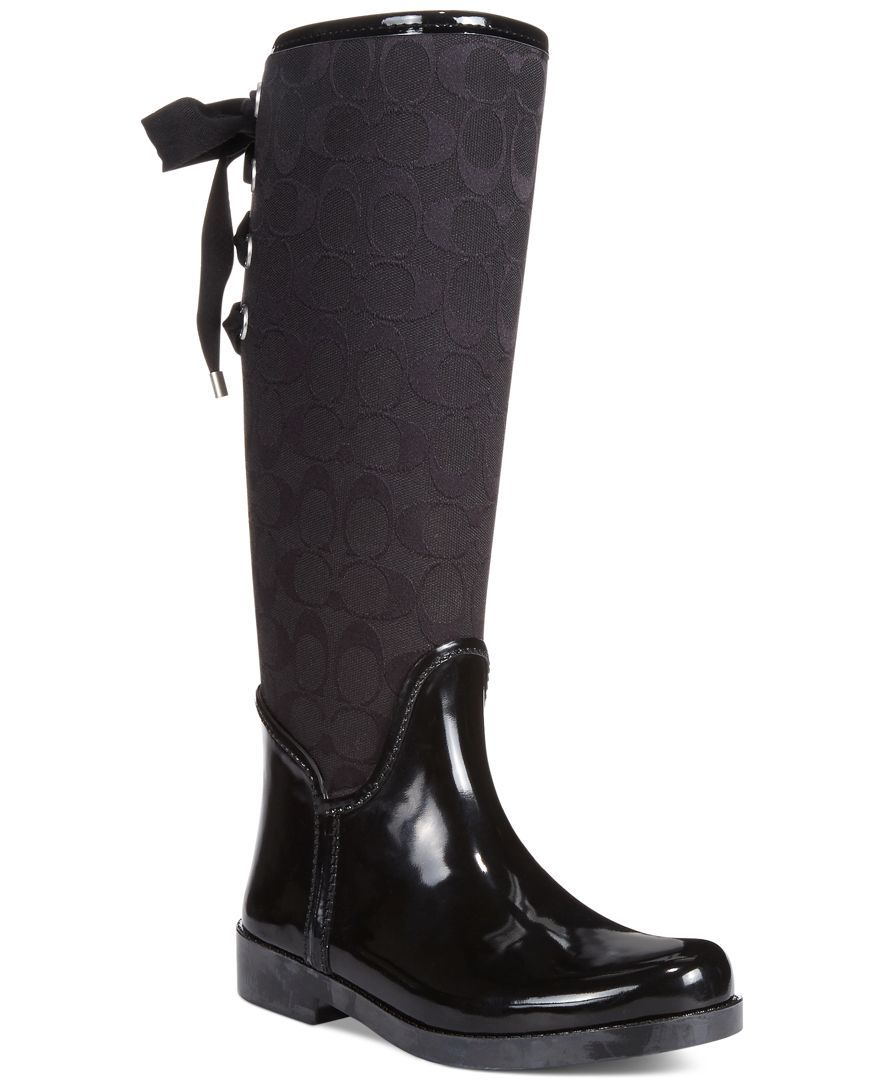 d967b178da25 COACH TRISTEE RAINBOOT - Boots - Shoes - Macy s