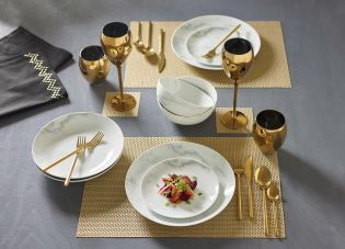 Set Of 8 Collection Luxe Gold Placemats And Coasters From The Next Uk Online