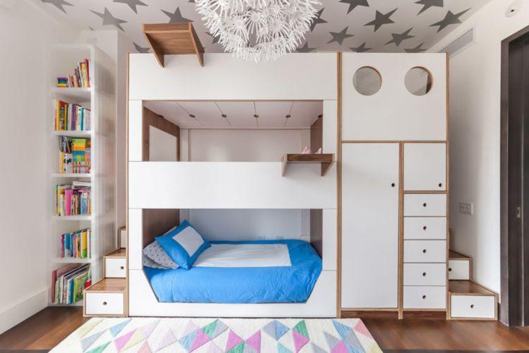 Etagenbett Eiche : Bett hochbett etagenbett schreibtisch sunny cm weiß eiche