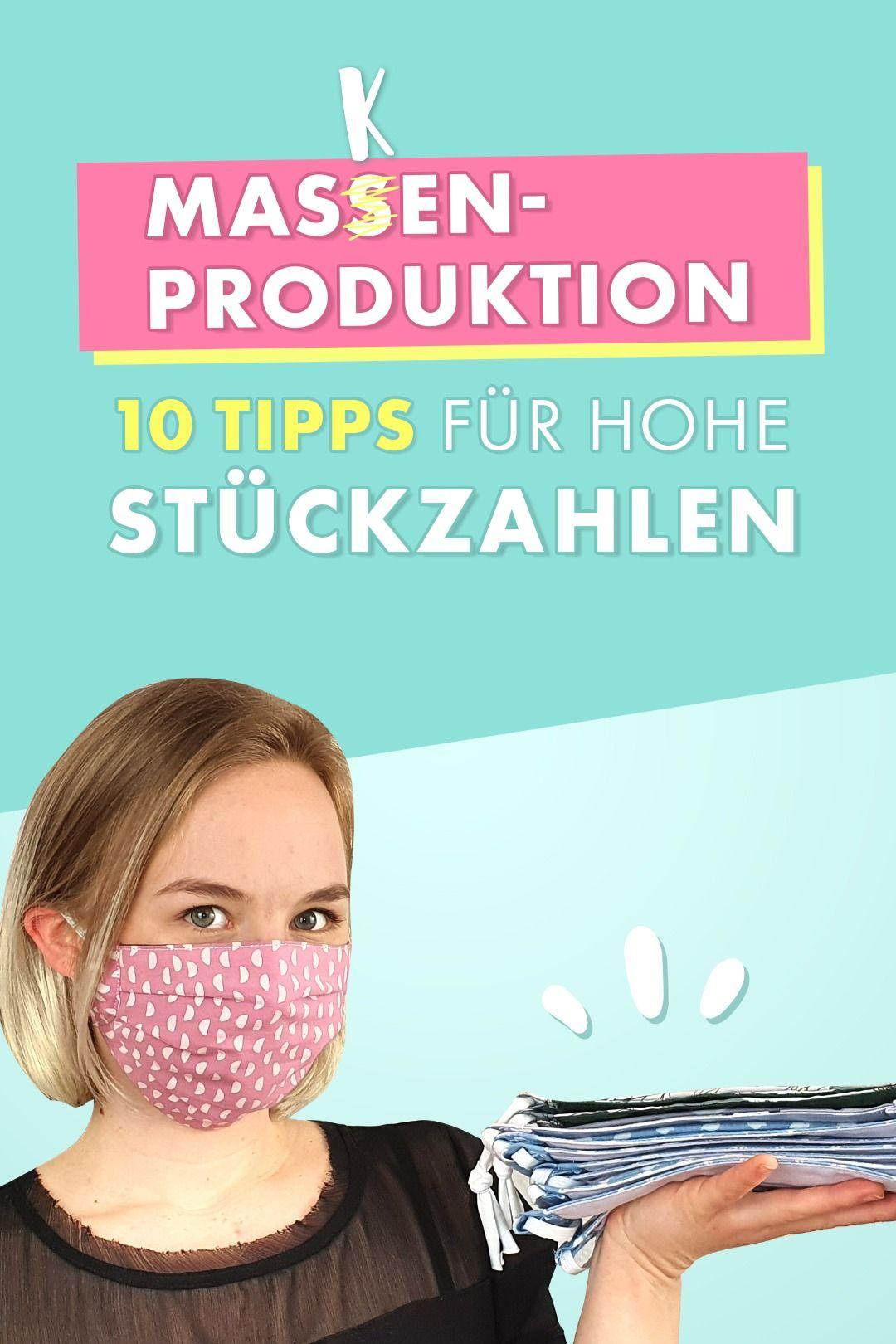 Mehr Masken in weniger Zeit nähen - 10 Tipps