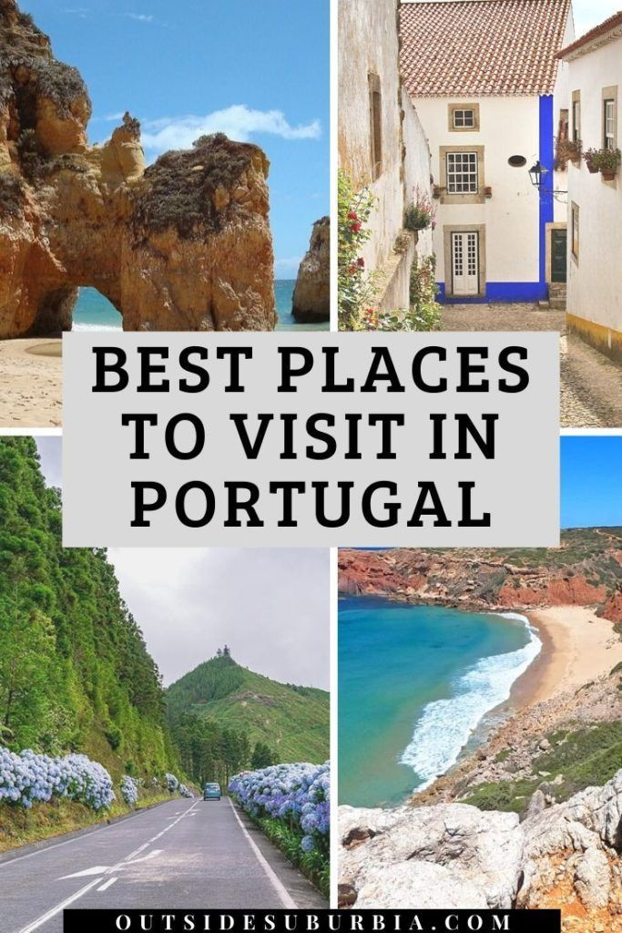 From pristine islands to beaches, towns and hilltop villages, UNESCO heritage sites, here are 28 beautiful places to visit during your Portugal holiday. #BestPlacesInPortugal #BeautifulPlacesInPortugal #PortugalItinerary #PortugalRoadtrip #PortugalHoliday #OutsideSuburbia #familytraveladventures #europeanadventures #familytraveltips