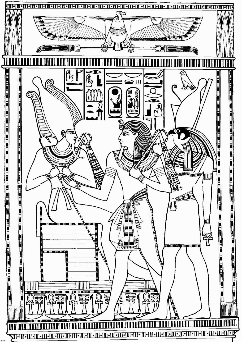 Ancient Egypt Coloring Sheets Ancient Egypt Gods Colouring