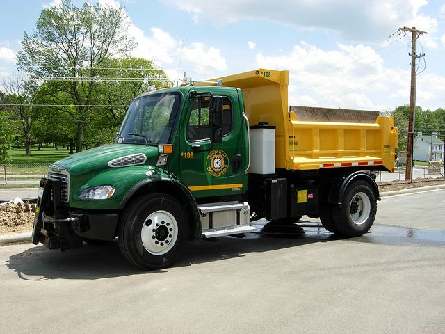 Centerville Oh Frieghtliner Snow Plow Truck Plow Truck Trucks Snow Plow