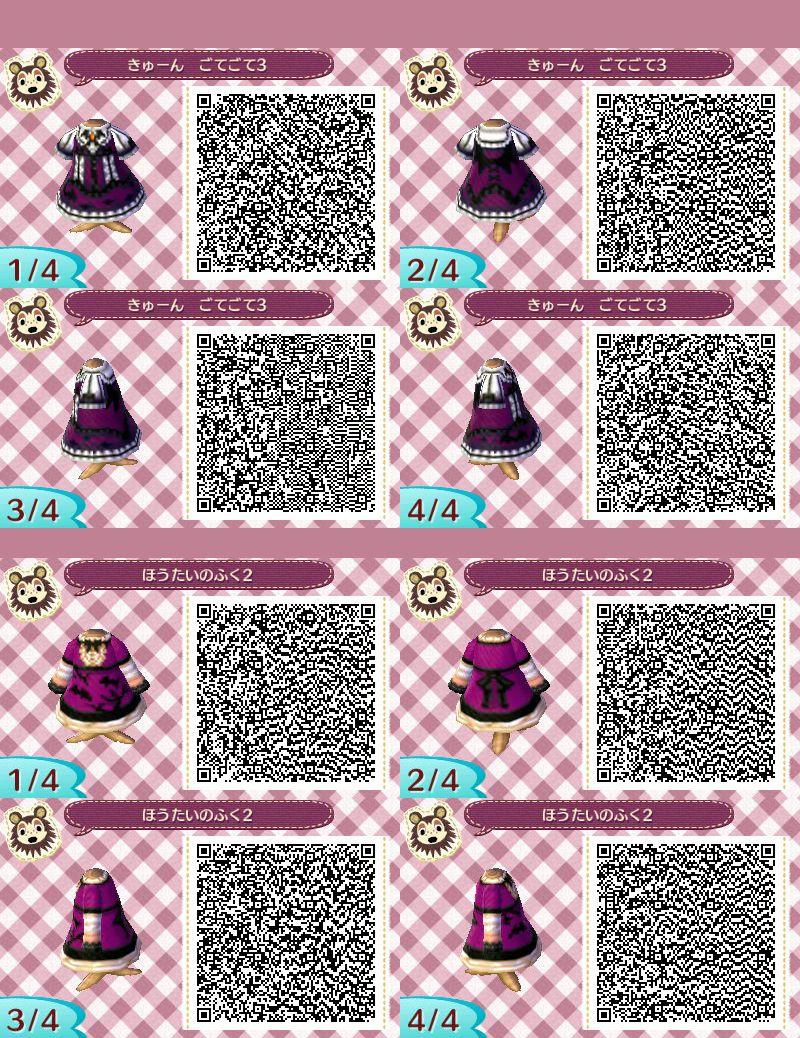 どう森:【qrコード】ハロウィンの服のマイデザイン集(ヴァンパイア