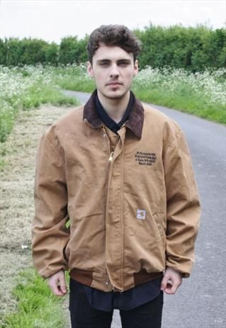 9fd4733a Vintage Brown Carhartt Workwear Jacket from headlock vintage | 3rd ...