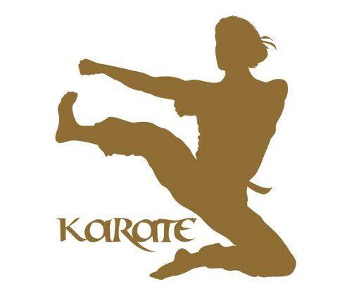 East Urban Home Karate, Woman Wall Sticker