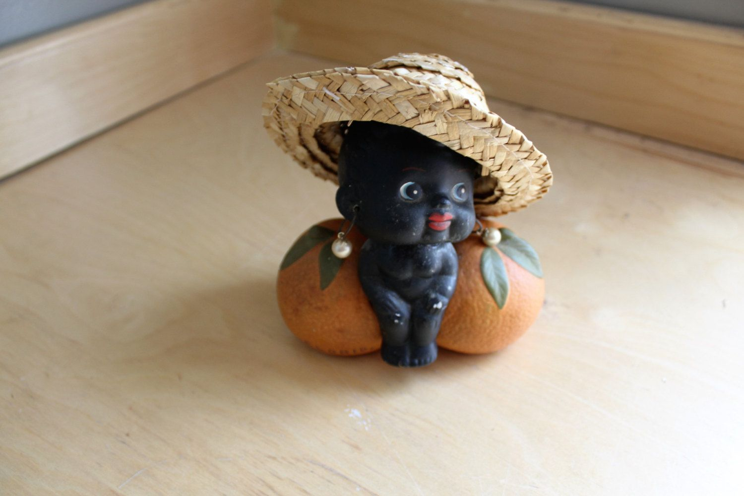 vintage black memorabilia bobble head bank florida kenmar bisque figurine stamped japan by upickyourcollectible on Etsy