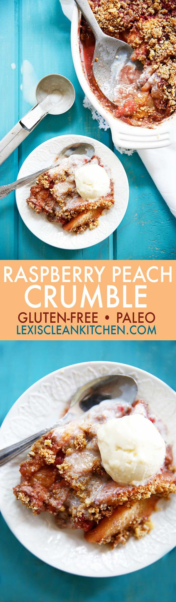 Raspberry Peach Crumble {Dairyfree, eggfree, paleo