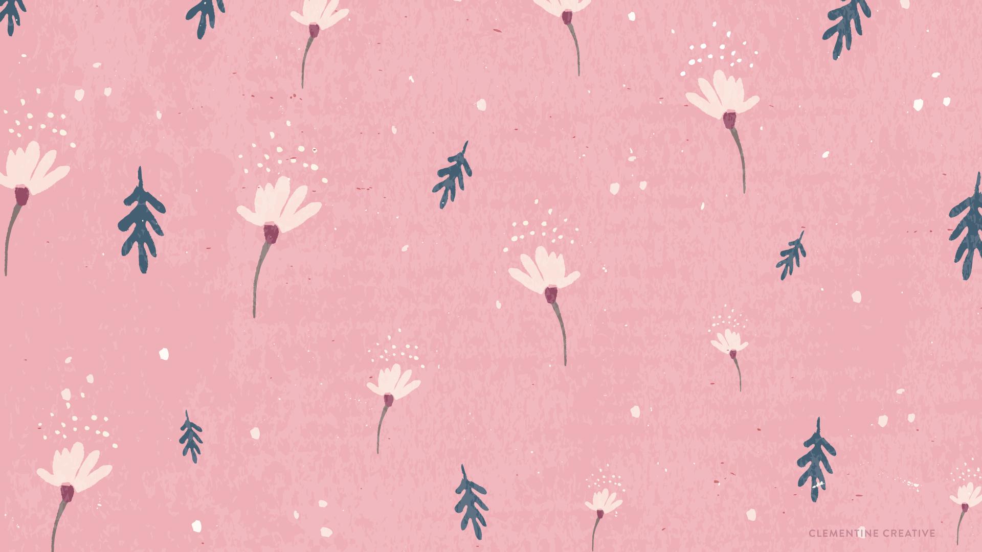 Free Wallpaper Dainty Falling Flowers I N S P I R E Pink Wa Pink Wallpaper Desktop Macbook Wallpaper Pink Wallpaper