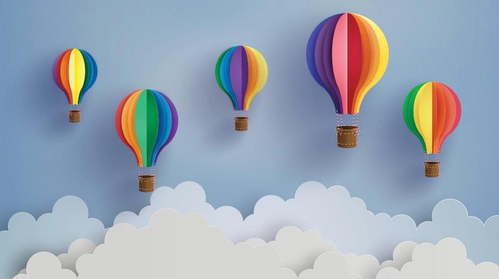 hot air balloons scrapbook embellishments baby Google