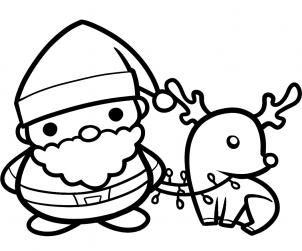 how to draw santa and rudolph, santa and rudolph step 9 ...