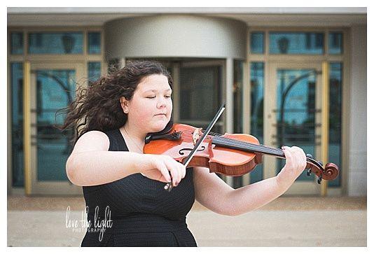 Johnson Senior Session, Edwardsville High School Class of 2017  downtown Edwardsville Senior Session, viola, orchestra