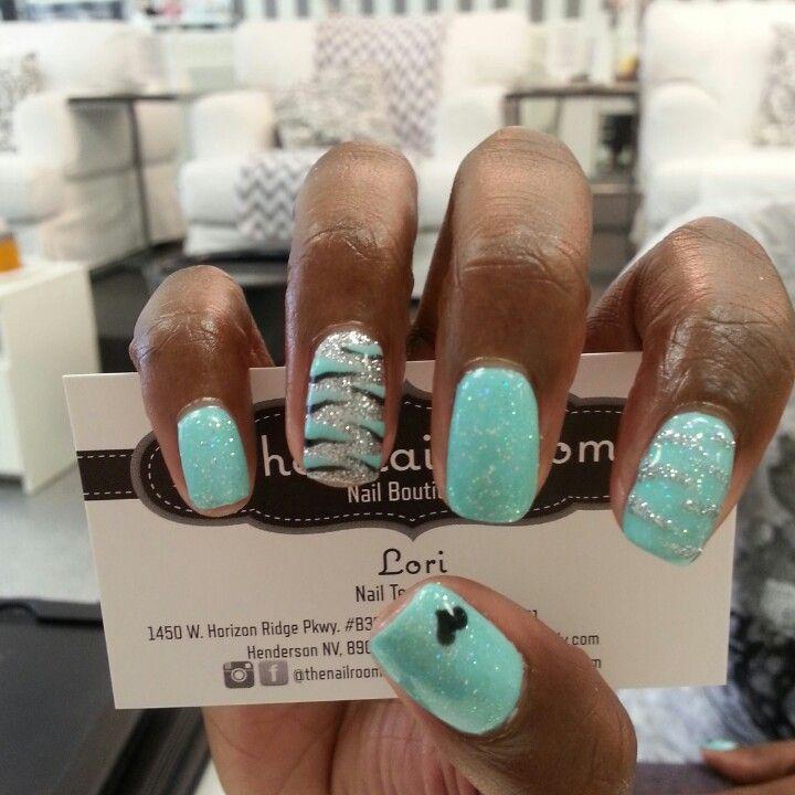 Tiffany blue zebra nails (With images) | Zebra nails ...