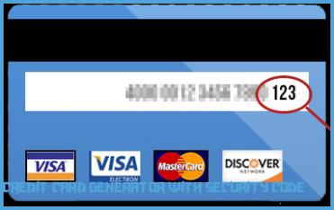 Dummy credit card number