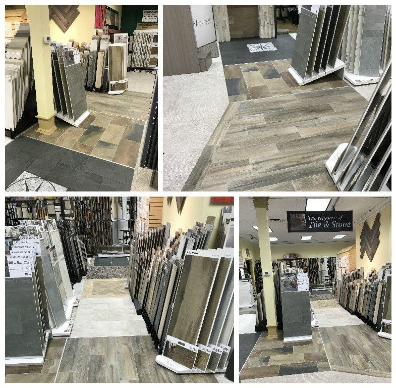 New Tile display floors in our showroom! flooring tiles
