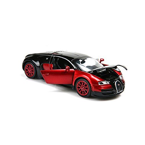 New Style 132 Bugatti Veyron Alloy Diecast Car Model Collection Lightsound Red By Zhmy Amazon Best Buy Disneyleg Bugatti Veyron Diecast Cars Veyron
