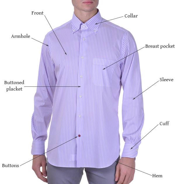 Men's Dress Shirt Names