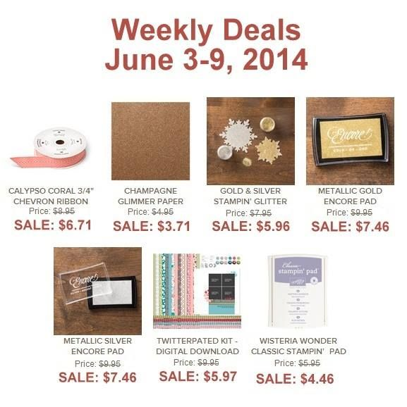 weekly deals are here!! #stampinup #specials #discounts shop at www.lisapretto.stampinup.net