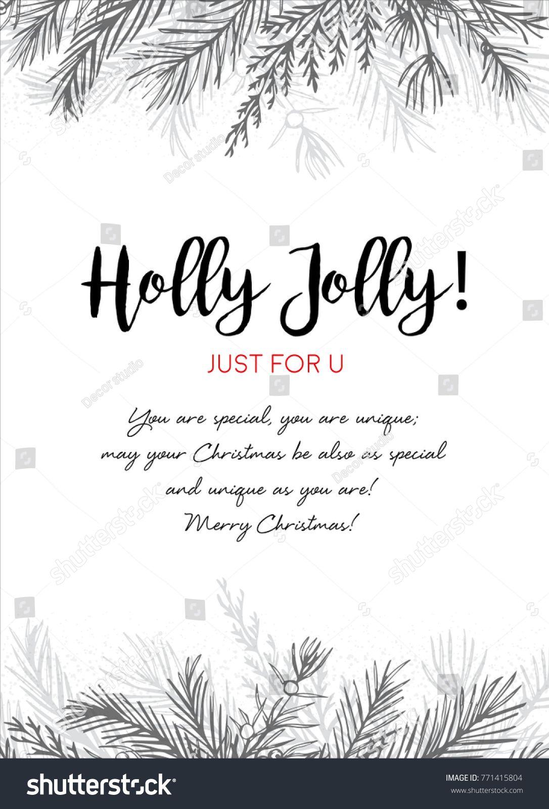 Merry christmas greeting card postcard vector design hand drawn merry christmas greeting card postcard vector design hand drawn silver gray ink winter tree stopboris Choice Image
