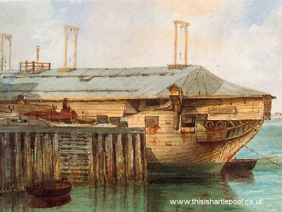 HMS Trincomalee-in-storage-demasted