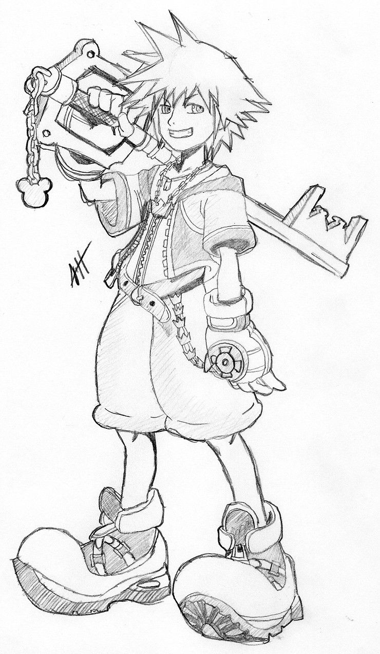 Free Printable Kingdom Hearts Coloring Pages For Kids coloriage