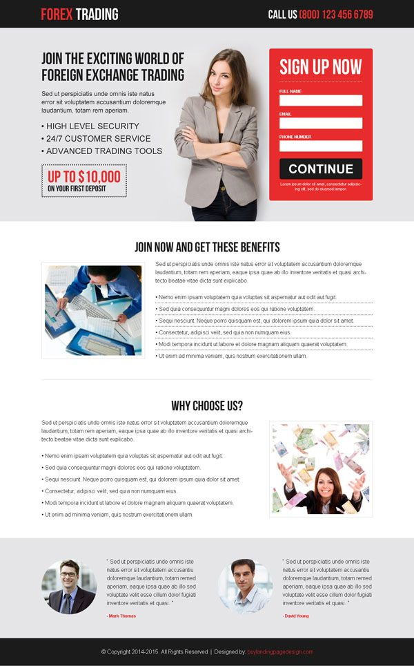 Landing page design template examples that delivers customer ...