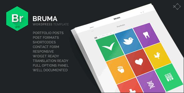 Bruma - Blog & Portfolio Template | Wordpress Portfolio Themes I ...