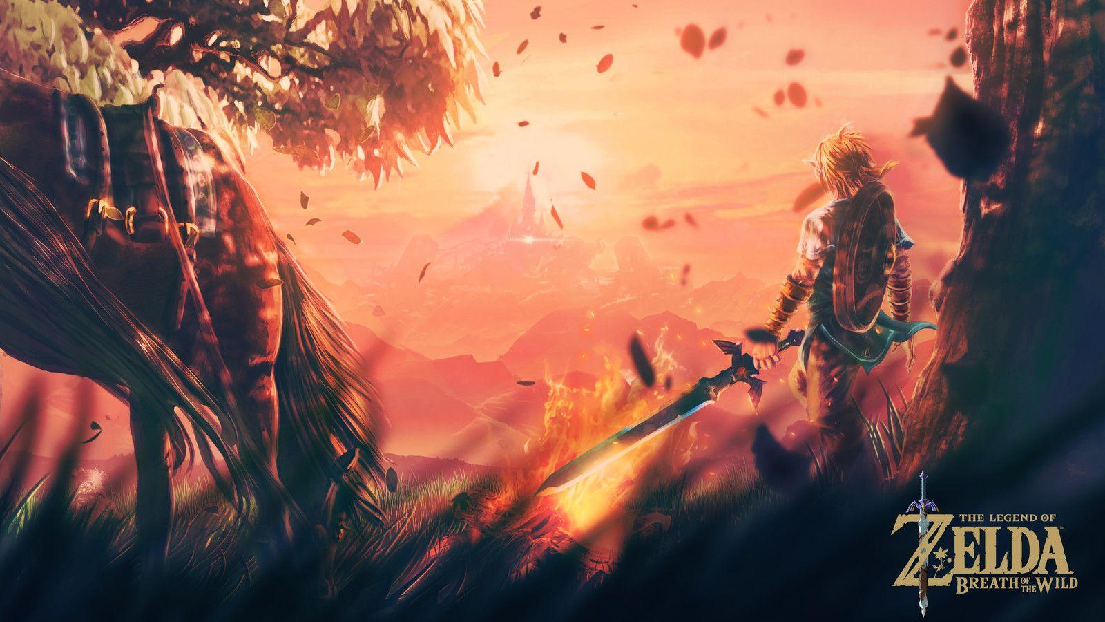 A Pause Before The Battle The Legend Of Zelda Breath Of The Wild Fan Art Andre Filipe Legend Of Zelda The Legend Of Zelda Wallpaper Breath Of The Wild