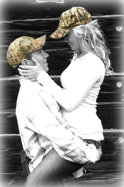 Camo engagement picture! Pretty dang cute!