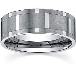 Men S Tungsten Comfort Fit Spinner Band 9 Mm Ping On Rings