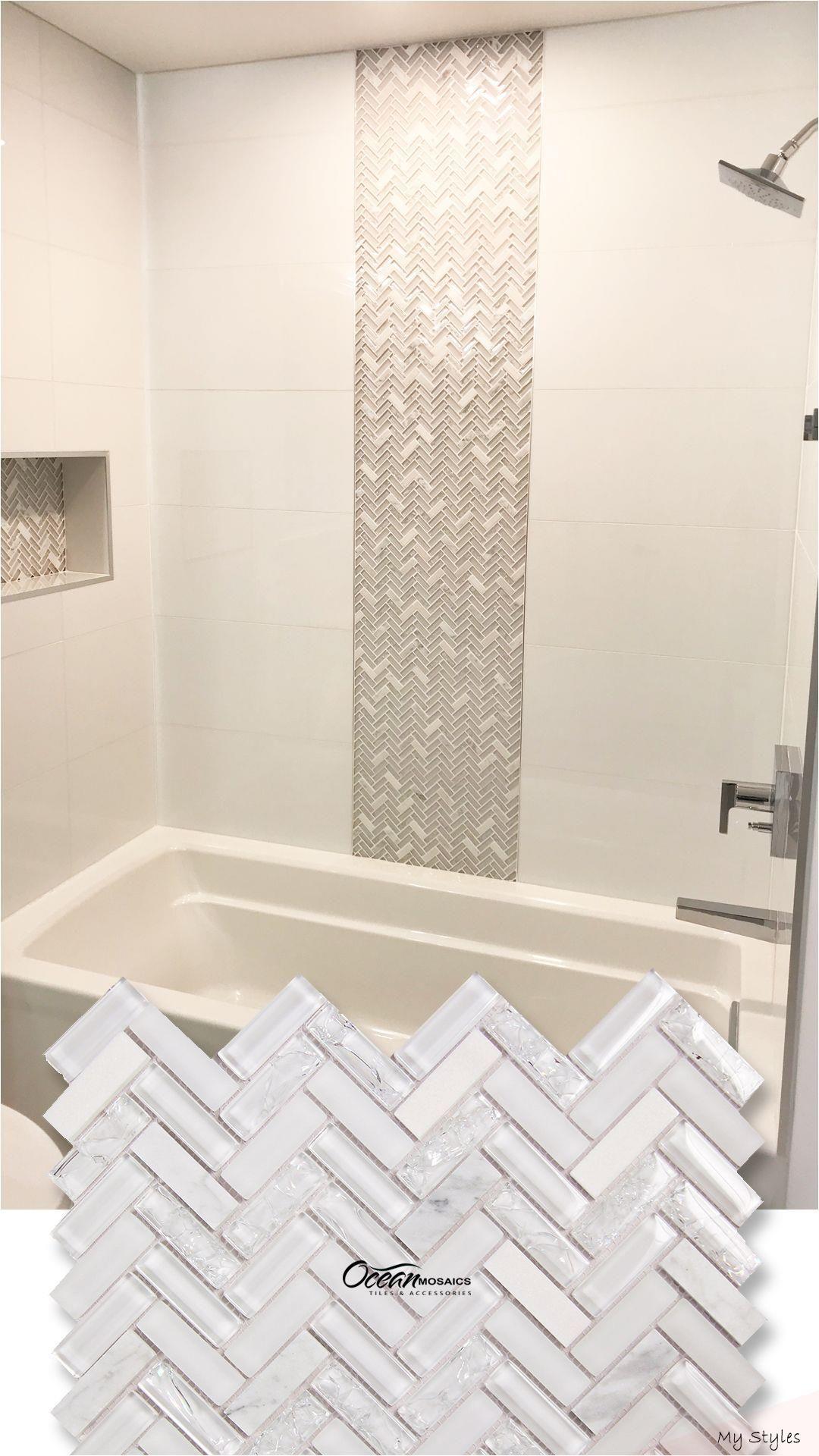 Nov 7 2019 Archery White Oak Herringbone Tile Designed In A Unique Vertical Pa En 2020 Conceptions De Carrelage Salle De Bains Carrelage Salle De Bain Salle De Bain