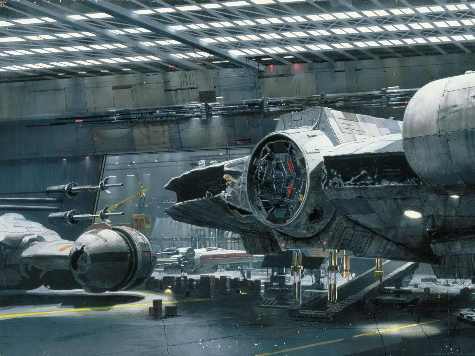 Star Wars matte painting.