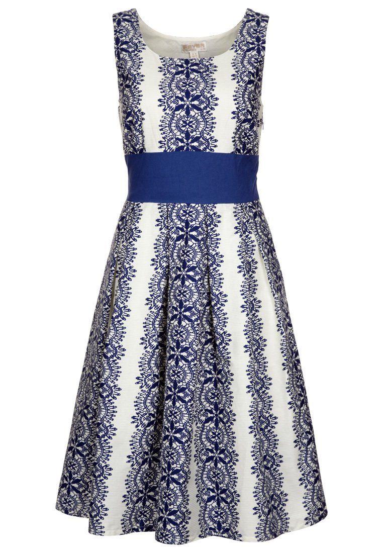 fever london - marilyn - galajurk - blauw €99,95 | clothes