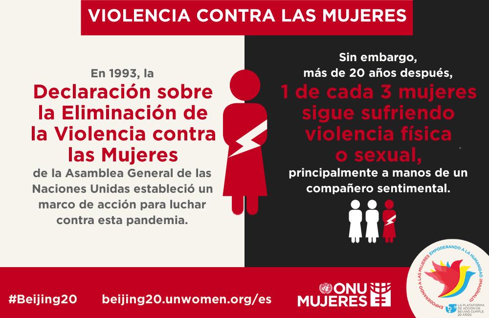 MT @ONUBolivia: Una  de cada tres mujeres sigue sufriendo abusos. Infografía de @ONUMujeres #IWD2015 #Beijing20